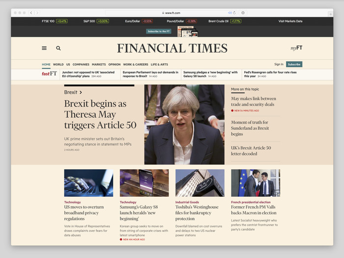 Financial Times website (2017) 1