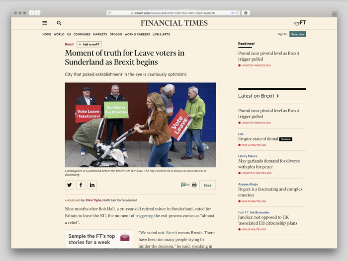 Financial Times website (2017) 3