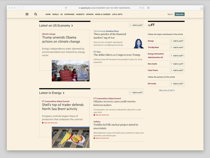 Financial Times website (2017) 5