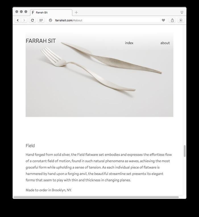 Farrah Sit website 1