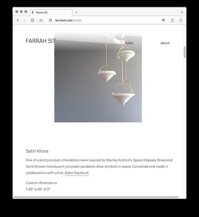 Farrah Sit website 2