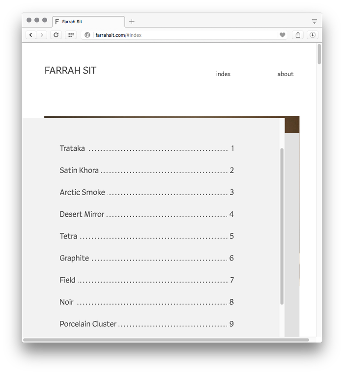 Farrah Sit website 5