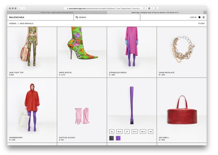 Balenciaga website (2017) 4
