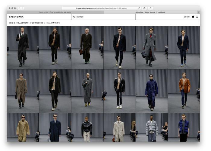 Balenciaga website (2017) 5