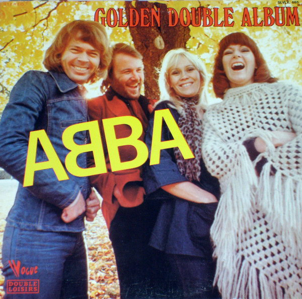 The first appearance of the ABBA logo was on the French Golden Double Album ‎(Melba, Vogue, May 1976). The secondary typeface is Windsor Elongated in all caps.