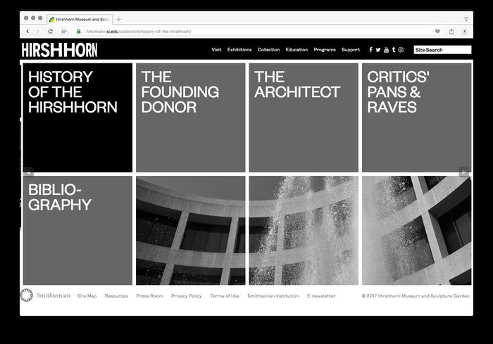 Hirshhorn Museum and Sculpture Garden website 3