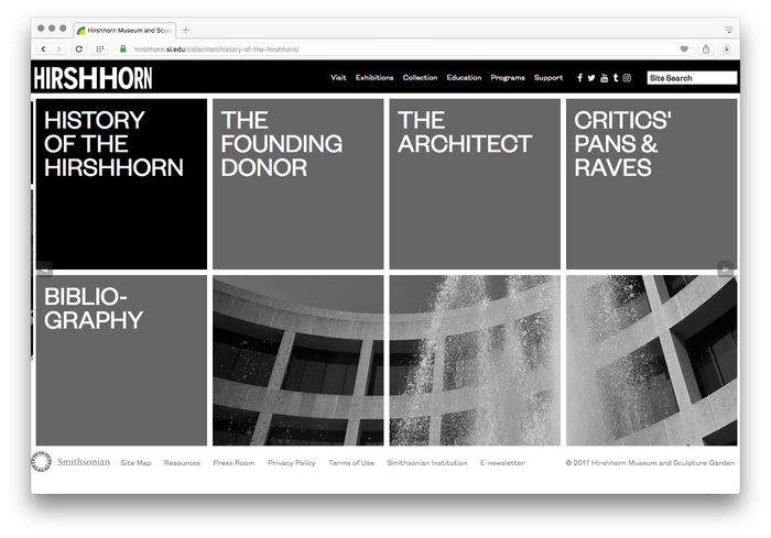 Hirshhorn Museum and Sculpture Garden website 3
