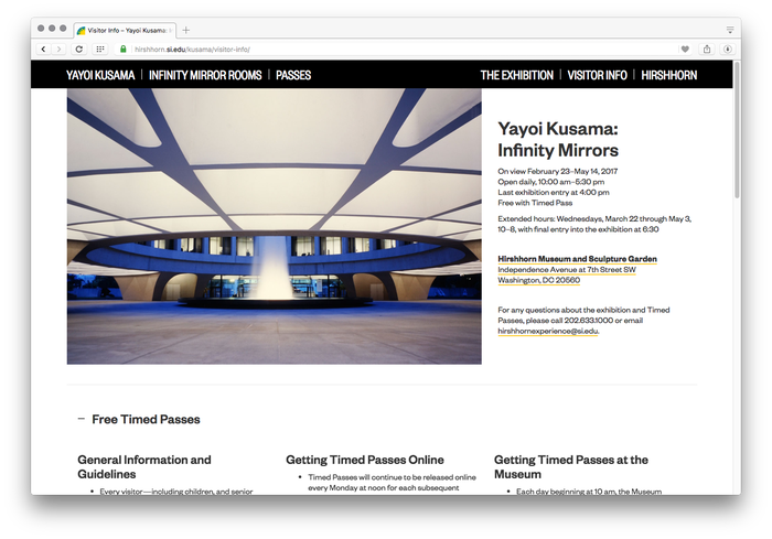 Hirshhorn Museum and Sculpture Garden website 5