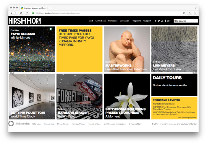 Hirshhorn Museum and Sculpture Garden website 1