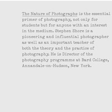 <cite>The Nature of Photographs</cite> (Phaidon)