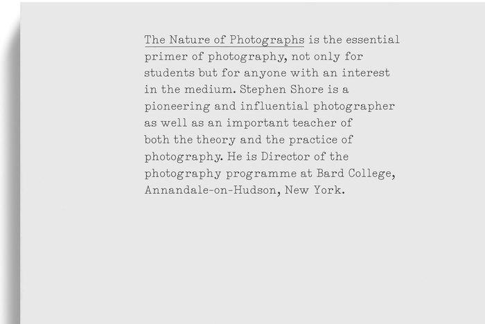 The Nature of Photographs (Phaidon) 1