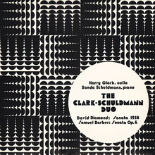 The Clark-Schuldmann Duo – <cite>David Diamond: Sonata 1938/Barber: Sonata Op.6</cite>