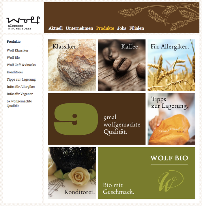 Website: Product overview page. Fabiol is currently used in images only. Live text is rendered in tried-and-tested Georgia.
