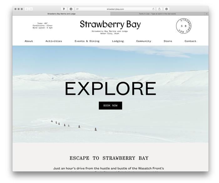 Strawberry Bay website (2017) 1