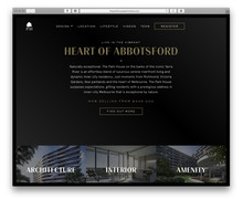 <cite>The Park House Apartments</cite> promotional website