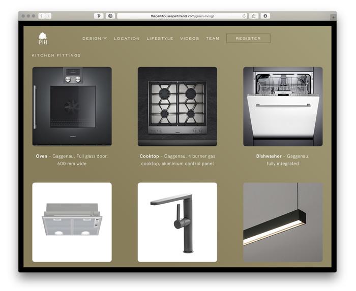 The Park House Apartments promotional website 4