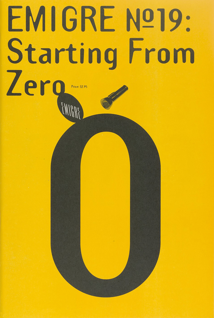 Emigre #19: Starting From Zero 1