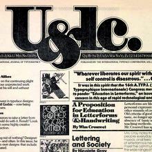"<cite>U&lc</cite>, Vol.<span class=""nbsp""></span>1 #2, 1974"