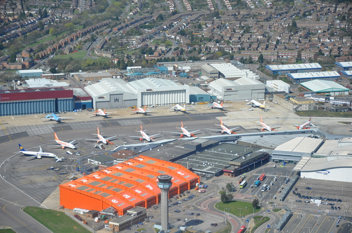 Contender for largest application of Cooper Black: Hangar 89 at Luton airport, easyJet's corporate office.