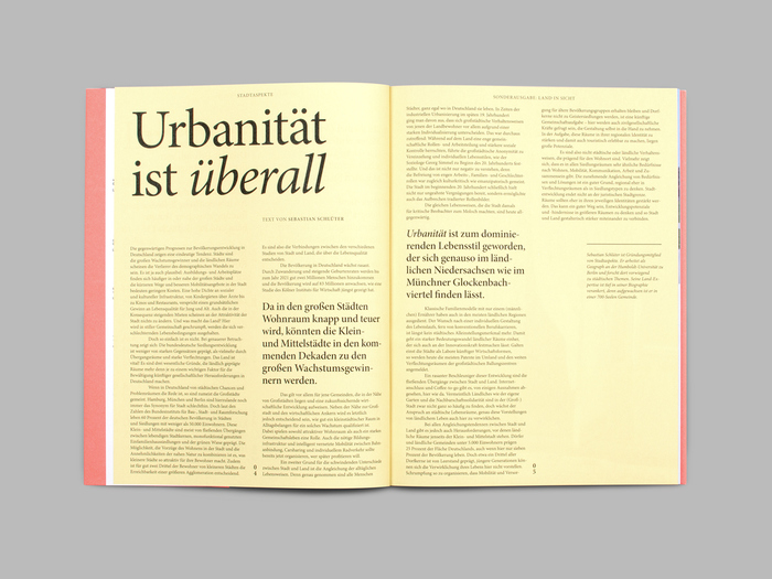 "Stadtaspekte, special issue ""Land in Sicht!"" 4"