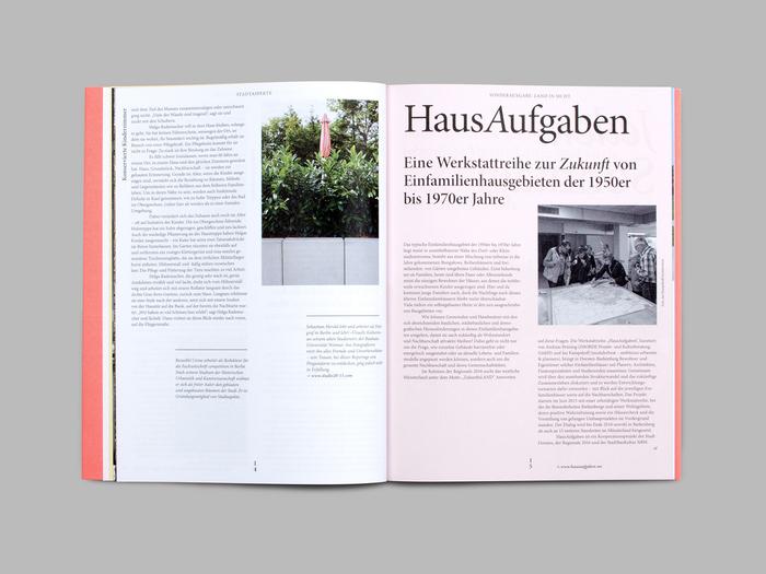 """Stadtaspekte, special issue """"Land in Sicht!"""" 6"""