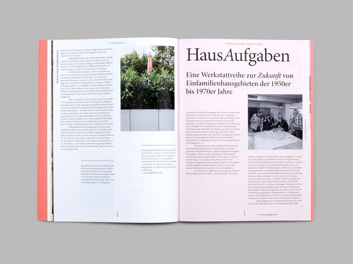 "Stadtaspekte, special issue ""Land in Sicht!"" 6"