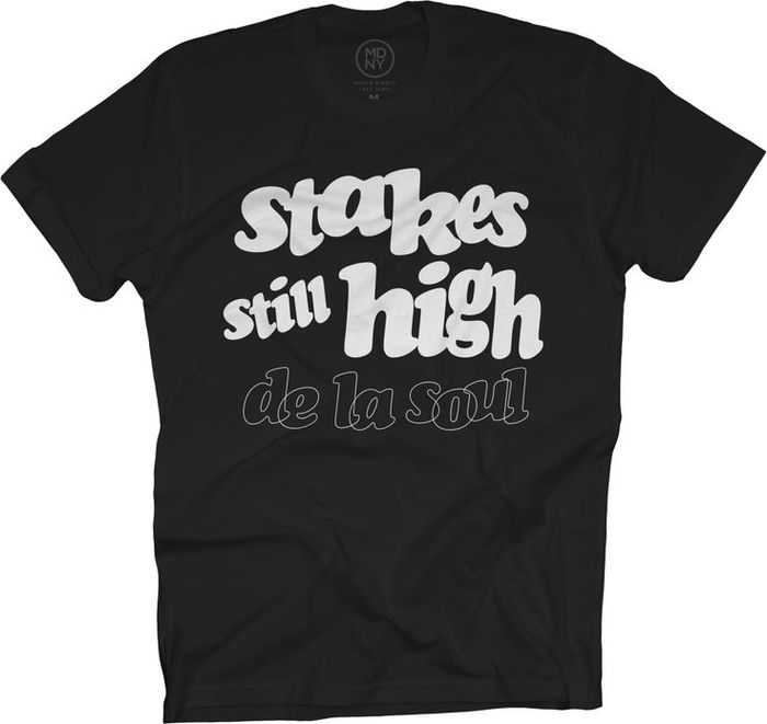 """Stakes still high"" — fan T-shirt"