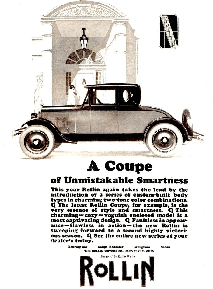 """Rollin ad: """"A Coupe of Unmistakable Smartness"""" 1"""