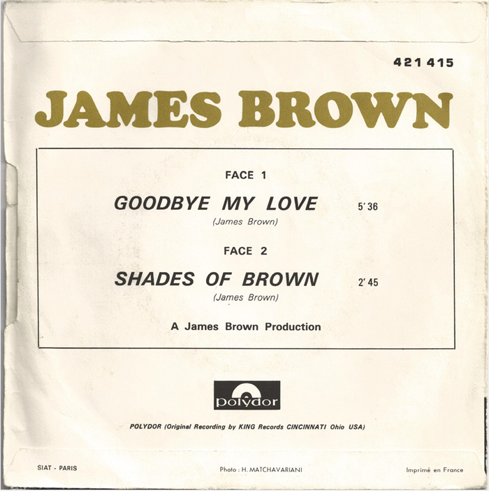 Goodbye My Love by James Brown (France) 2