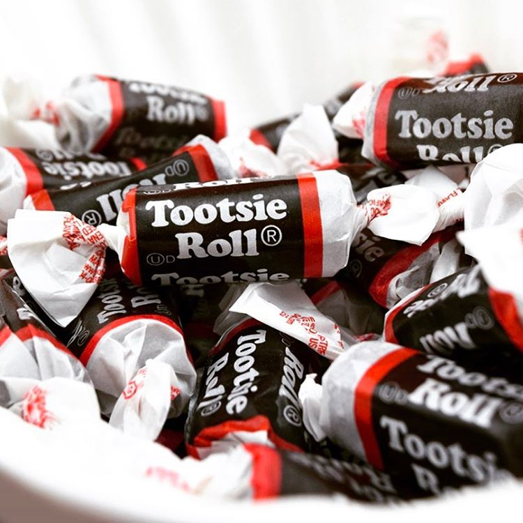 tootsie roll candy branding fonts in use