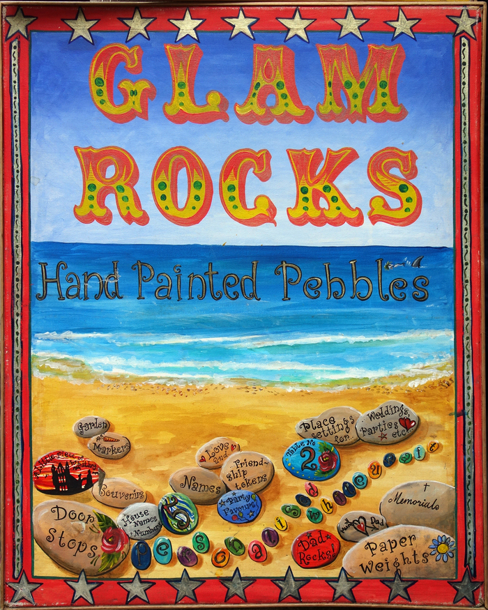 Glam Rocks – Hand Painted Pebbles / Hair Braids 1
