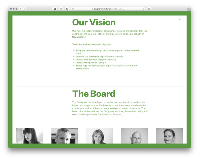 The Designers Institute of New Zealand website (2017) 4