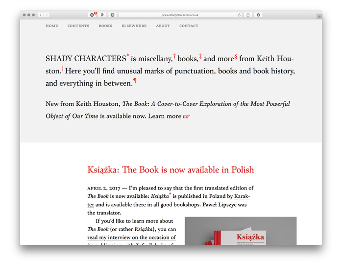 Shady Characters website 1