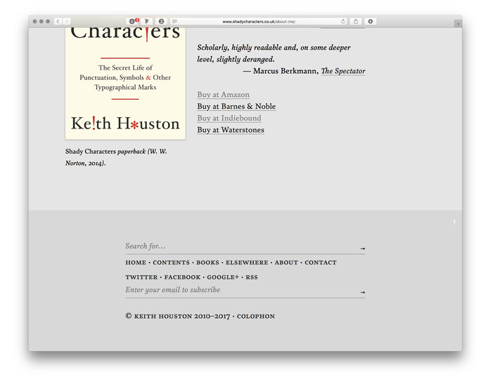 Shady Characters website 6