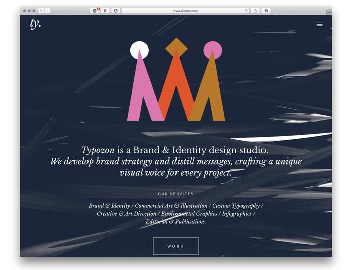 Typozon portfolio website (2017) 2