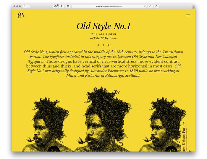 Typozon portfolio website (2017) 1