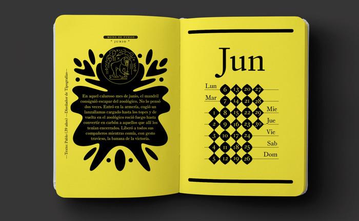 Mono de Fuego poster and booklet 3