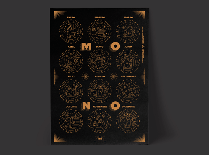 Mono de Fuego poster and booklet 5