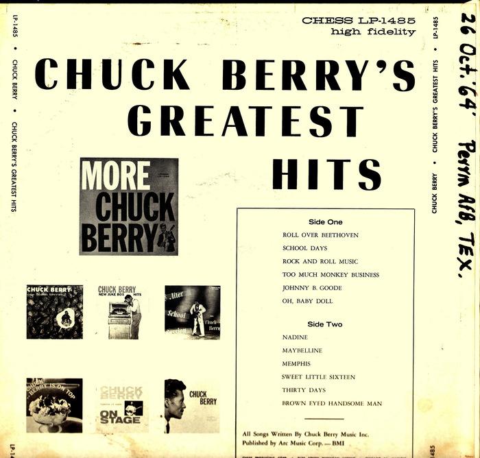 Chuck Berry's Greatest Hits album art 2