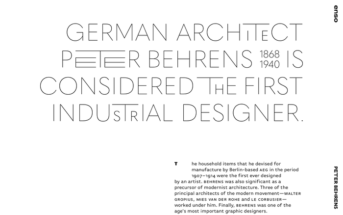 Enso magazine: Peter Behrens 2