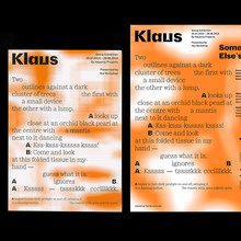 <cite>Klaus</cite> exhibition, Yeo Workshop