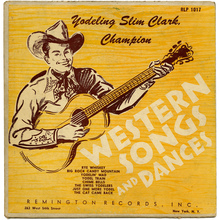 Yodeling Slim Clark – <cite>Western Songs And Dances</cite> album art