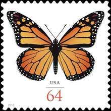64 Cent Monarch stamp, USA 2010