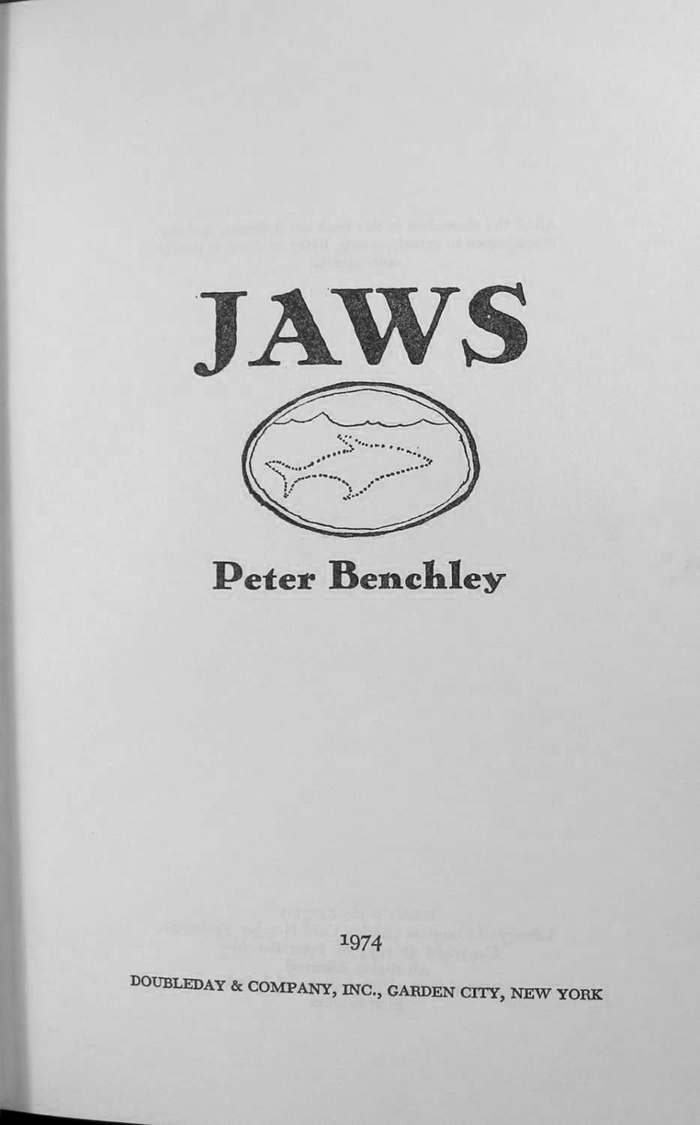 JAWS by Peter Benchley, Doubleday edition 3