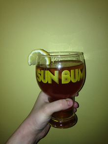 """Sun Bum"" glass"