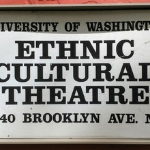 Ethnic Cultural Theatre sign