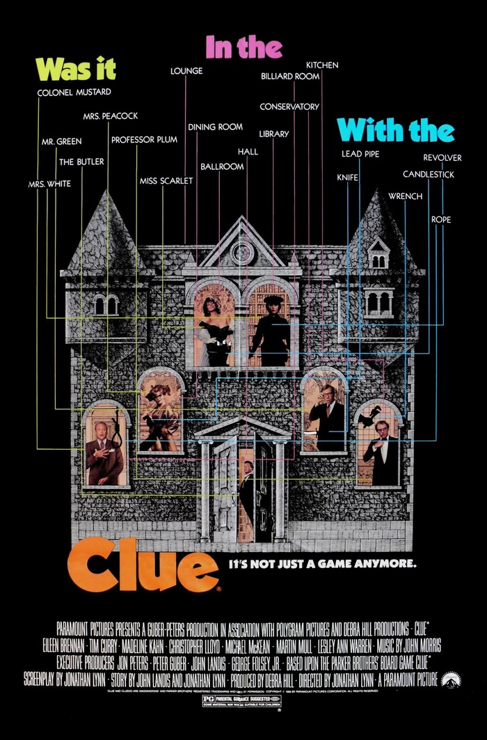 Clue (1984) movie posters 1