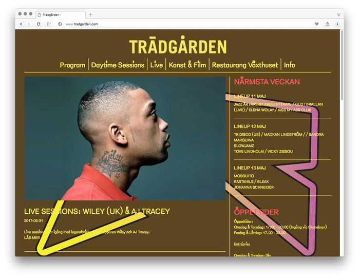 Trädgården website and promotional graphics 2017 6
