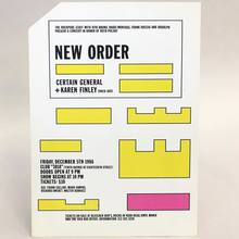 New Order, Certain General, and Karen Finley  postcard