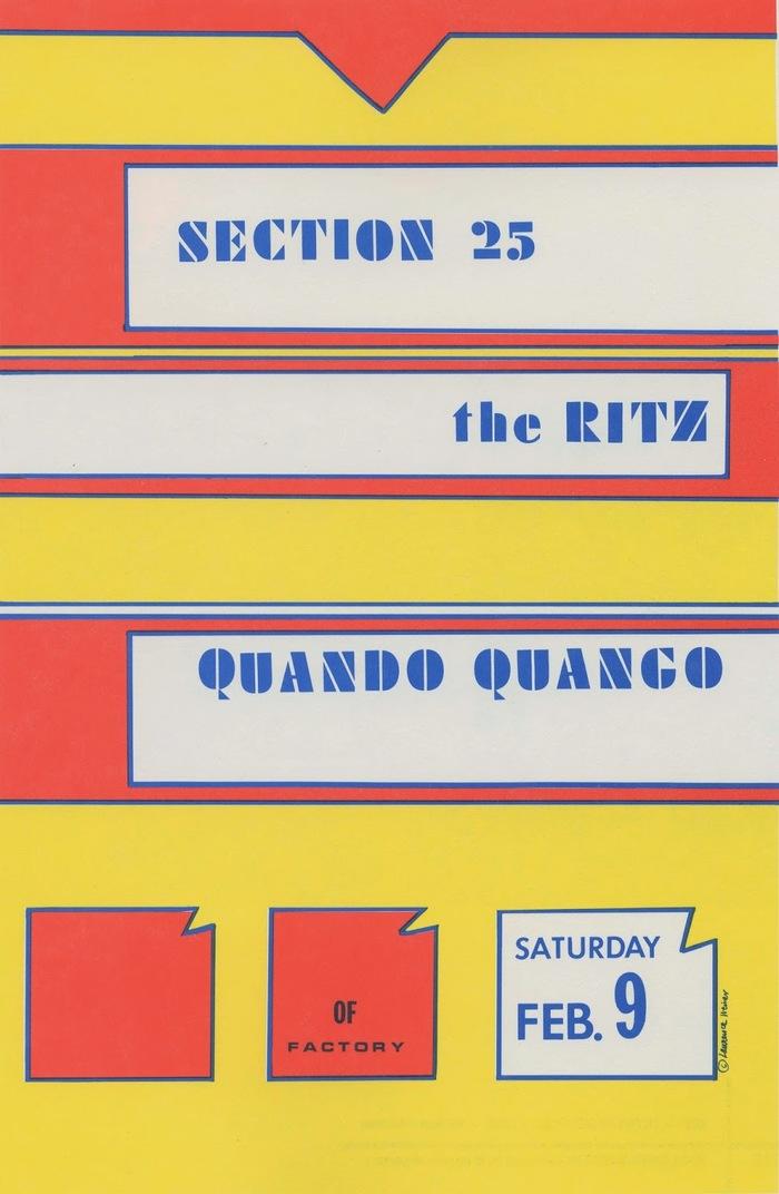 Section 25 and Quando Quango concert poster